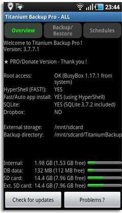Titanium Backup Pro v3.7.7.1