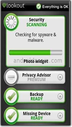 نرم افزار آنتی ویروس و امنیتی اندورید Lookout Mobile Security v5.10