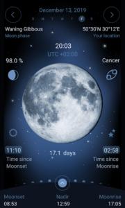 تصویر محیط Deluxe Moon – Moon Calendar v1.97
