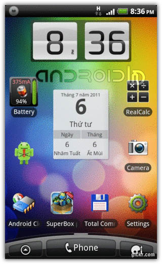 ابزارک Animating Flip Clock Widget v0.4.9