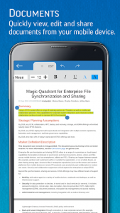 تصویر محیط SmartOffice – View & Edit MS Office files & PDFs v3.4.13