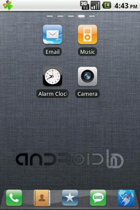 تم آیفون 4 اس برای آندروید iPhone 4S Theme v1.5