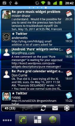 نرم افزار Pure Messenger Widget 2.4.5