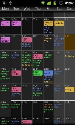 نرم افزار تقویم لمسی Touch Calendar 1.0.14