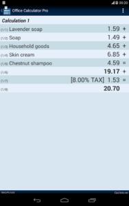 تصویر محیط Office Calculator Pro v5.3.0