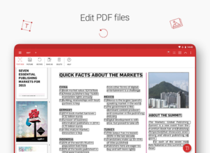 تصویر محیط Quick PDF – Scan, Edit, View, Fill, Sign, Convert v6.6.871
