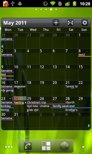 Pure Grid calendar widget v2.3.0