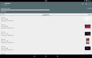 تصویر محیط Undeleter Recover Files & Data v4.86