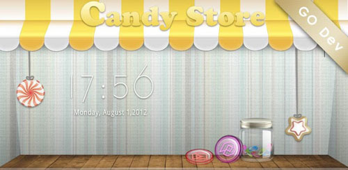 Candy Store GO Launcher Theme v1.2