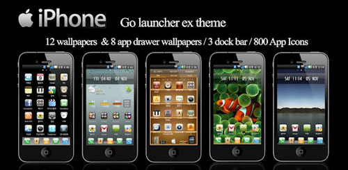 iPhone Go Launcher Theme v13.1