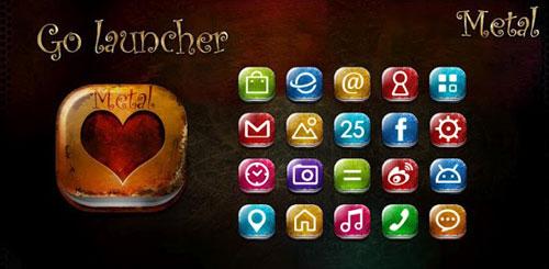 Metal GO LauncherEX Theme v1.2