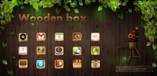 Woodenbox GO LauncherEX Theme v1.0