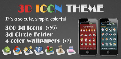 3D ICON Go launcher theme v6.1