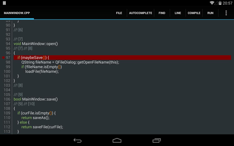 Download c4droid c/c++ compiler & ide + gcc plugin apk 4. 99.