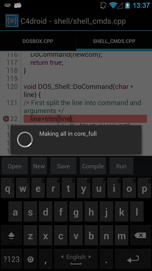 C4droid – C/C++ compiler & IDE v4.99 + GCC Plugin