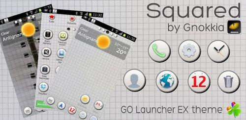 Squared GO Launcher EX Theme v1.0