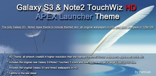 Galaxy S3 Note2 HD Apex Theme v1.3