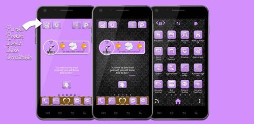 Go Launcher Theme Purple Gloss v1.1