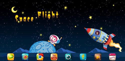 Space Flight GO Launcher Theme v1.0