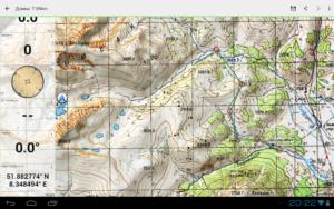 تصویر محیط Soviet Military Maps Pro v5.5.3