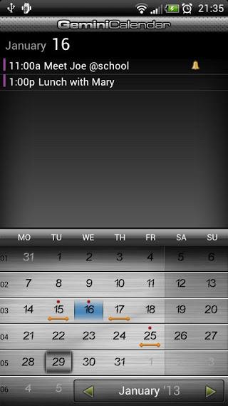 Gemini Calendar v2.12