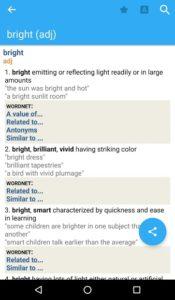 تصویر محیط Advanced English Dictionary & Thesaurus v10.0.424 + data