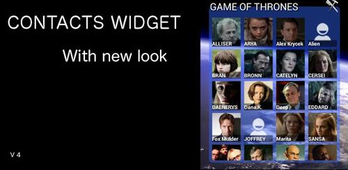 Contacts Widget v4.1.3