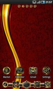 Luxury Gold apex GO Launcher2
