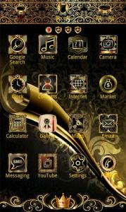 Luxury Gold apex GO Launcher3