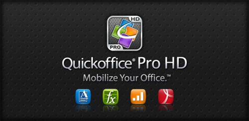 Quickoffice Pro HD for Tablets v5.7.327