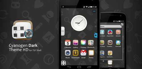 TSF Shell Cyanogen Dark HD v1.0