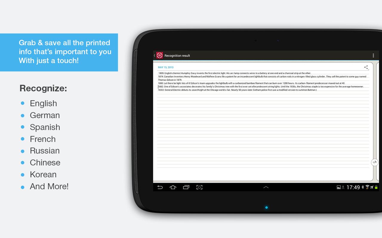 ABBYY TextGrabber + Translator v1.12