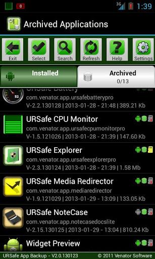 URSafe App Backup/Restore PRO v2.3.130215