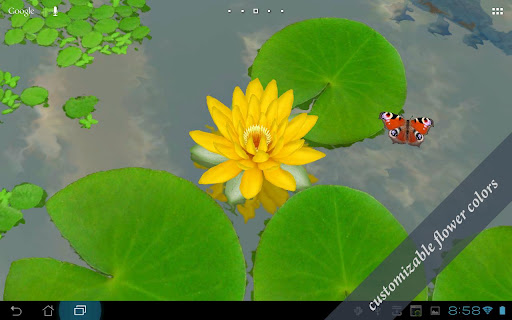 ۳D Lotus Live Wallpaper v1.8