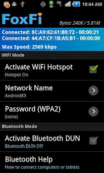FoxFi (WiFi Tether w/o Root) v2.20