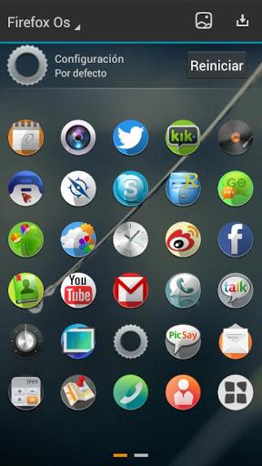 Firefox Os Next Launcher Theme v1.0