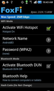 FoxFi (WiFi Tether wo Root2