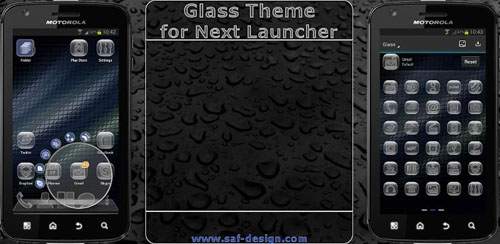 Next Launcher Glass Theme