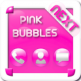 Pink Bubbles Next Launcher 3D