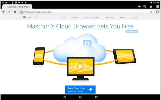 Maxthon Browser for Tablet v4.3.5.2000
