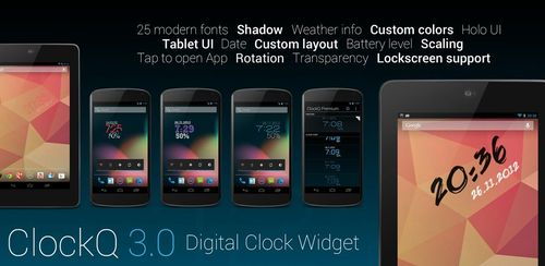 ClockQ – Digital Clock Widget v3.2.1