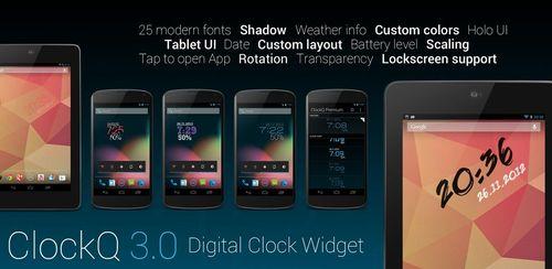 ClockQ – Digital Clock Widget v3.2.1