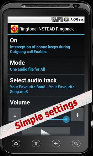 Ringtone INSTEAD Ringback v0.9.4.2