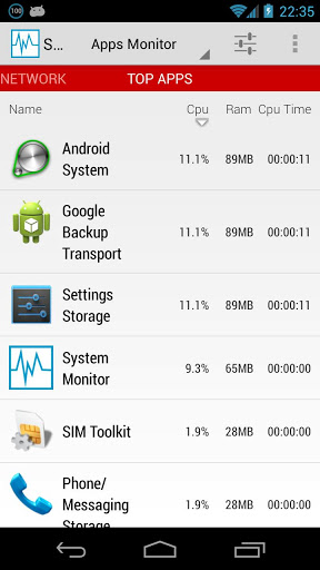 System Monitor v1.1.01