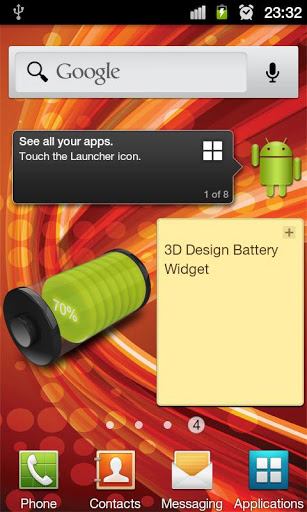 ۳D Design Battery Widget R2 v1.0
