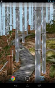 تصویر محیط Bamboo Forest 3D Live Wallpaper v2.0
