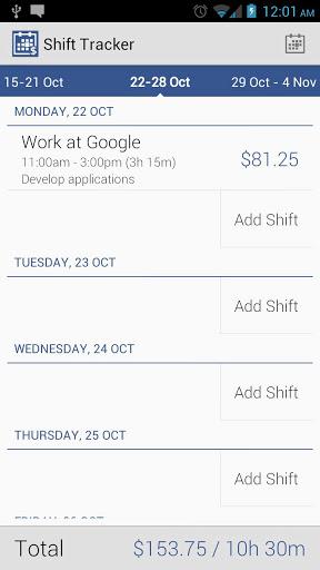 Shift Tracker v1.3