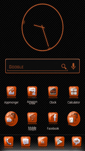 Slick Launcher Theme Orange v2.6