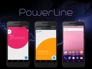 تصویر محیط PowerLine: On screen battery, signal, data lines v5.8 build 132