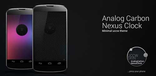 Carbon Analog Nexus Clock v1.0